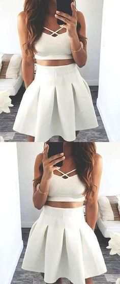 Hot Sale Admirable Prom Dresses White, Prom Dresses Short, Prom Dresse