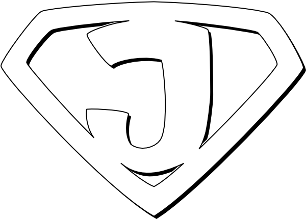 Super hero outline - change initial | Alpha art | Pinterest