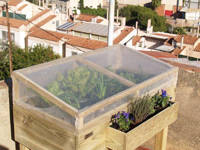 Como construir un invernadero para un huerto urbano en la terraza paso a paso y de una manera - Invernadero casero terraza ...