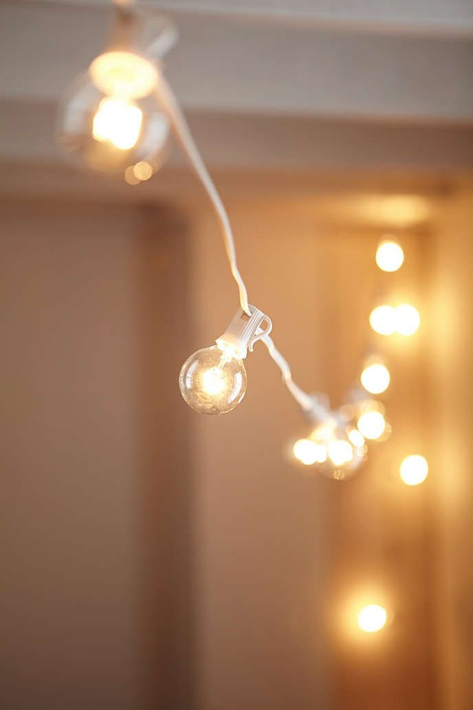 Light Bulbs On A String Magnificent White Cord Globe String Lights  Pinterest  Globe String Lights Design Inspiration