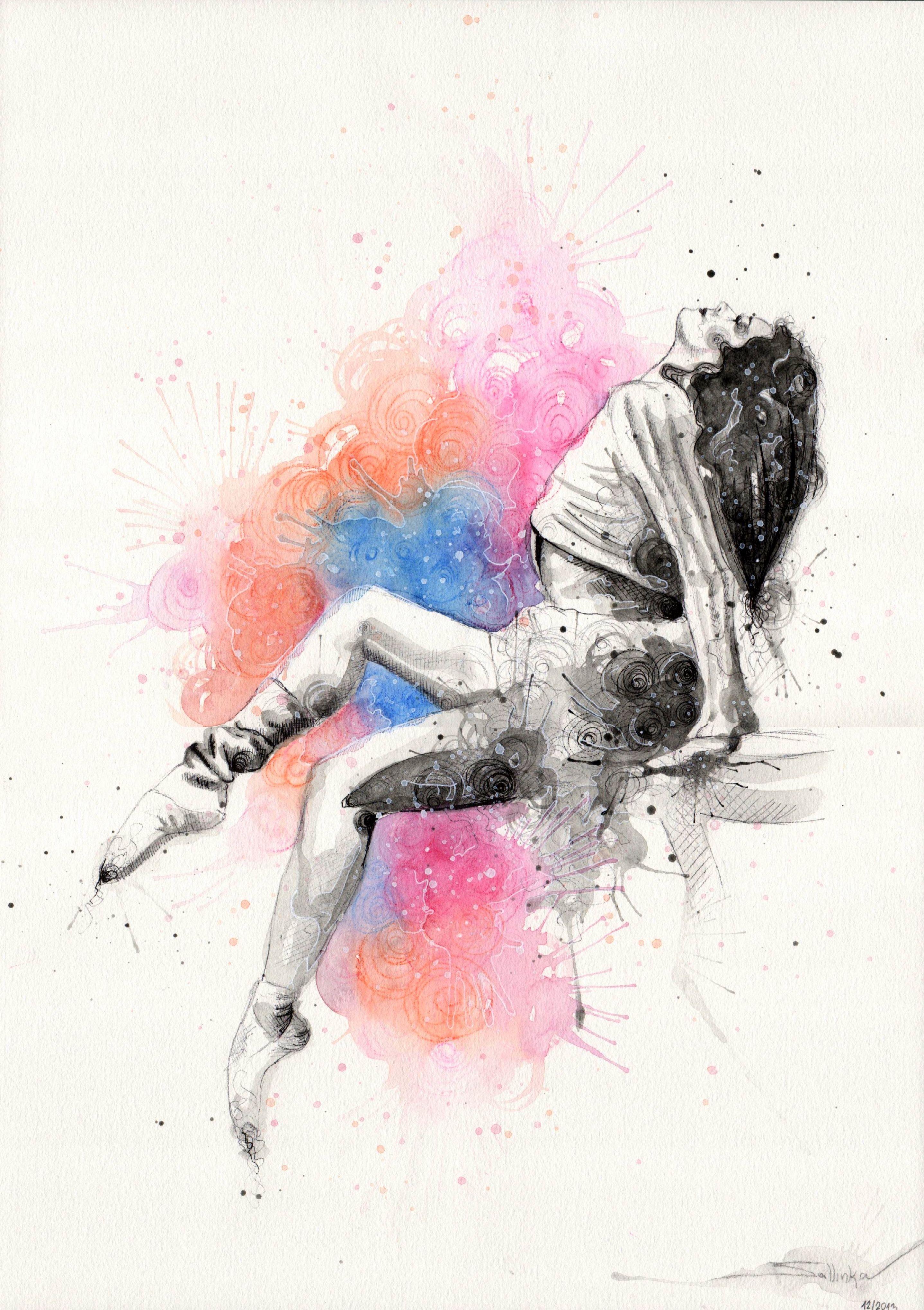 Ballerina | My watercolor works in 2019 | Ballet painting ...