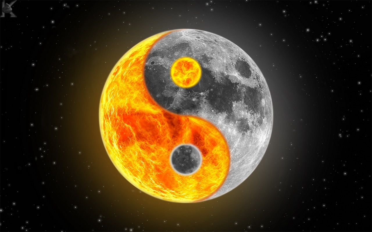 A yin yang symbol made out of the sun and the moon yin yang a yin yang symbol made out of the sun and the moon buycottarizona Choice Image