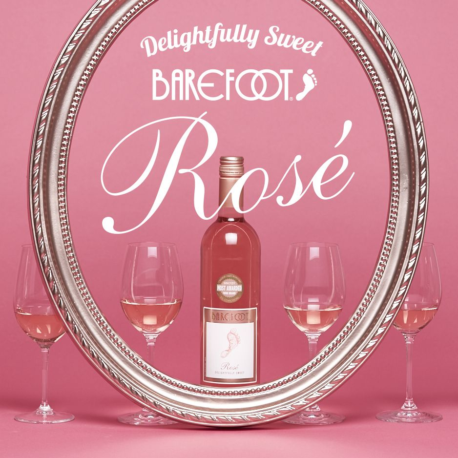 Introducing Barefoot Rose This Sweet Pink Wine Is Barefoot S Love Letter To A True Classic