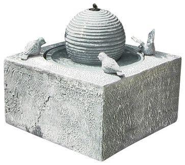 Birdbath Ball Solar On Demand Fountain - contemporary - outdoor fountains - Serenity Health & Home Decor