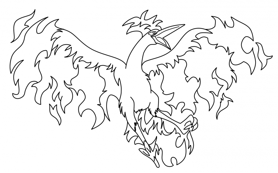 pokemon coloring pages moltres yahoo image search results