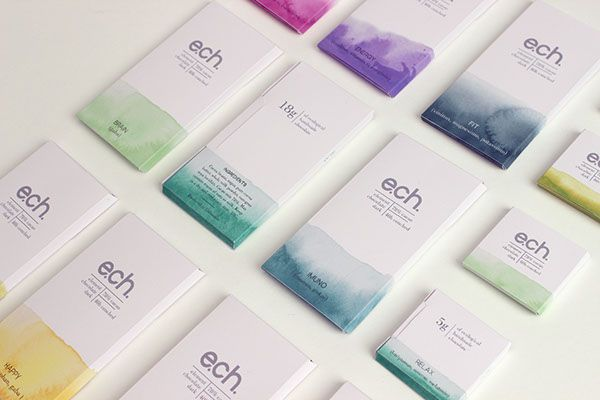 ELEMENT CHOCOLATE/ 2013Packaging project for ecological handmade chocolate.It is a functional chocolate product. Each bar has a specific function as follows:aphrodisiac, brain, detox, energy, fit, happy, immuno, relax, vitamins.STORYColors are ass…