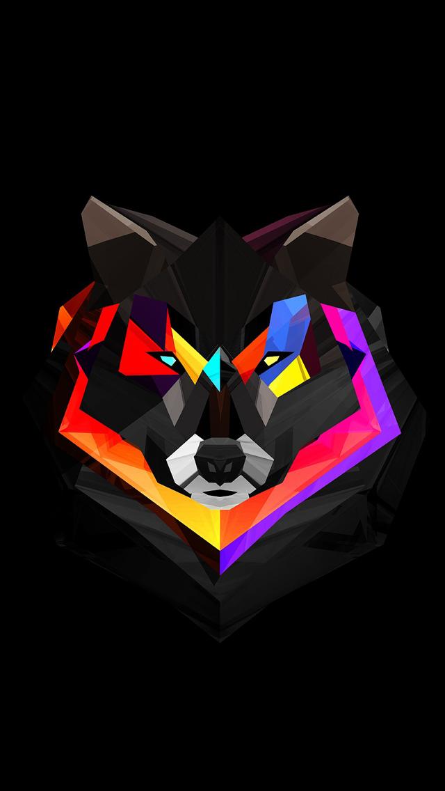 colors.quenalbertini Techno Wolf iPhone 5 Wallpaper