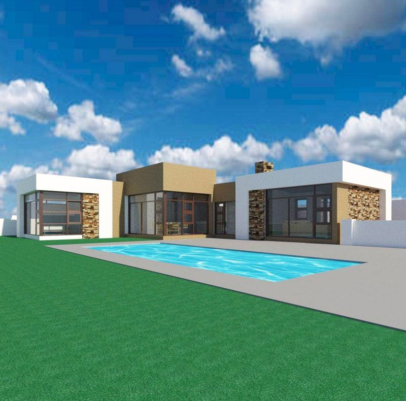 3 Bedroom House Plan 8211 M168 In 2020 House Plans South Africa Single Storey House Plans 4 Bedroom House Plans