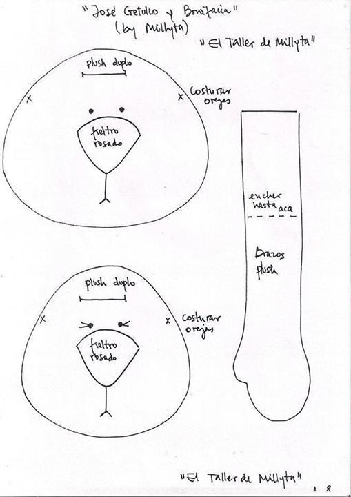 Los patrones de conejitos. Cómo coser conejo textil con los pies ...