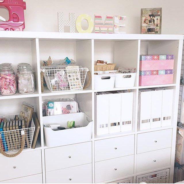 Love This Ikea Kallax Unit For Craft Room Storage
