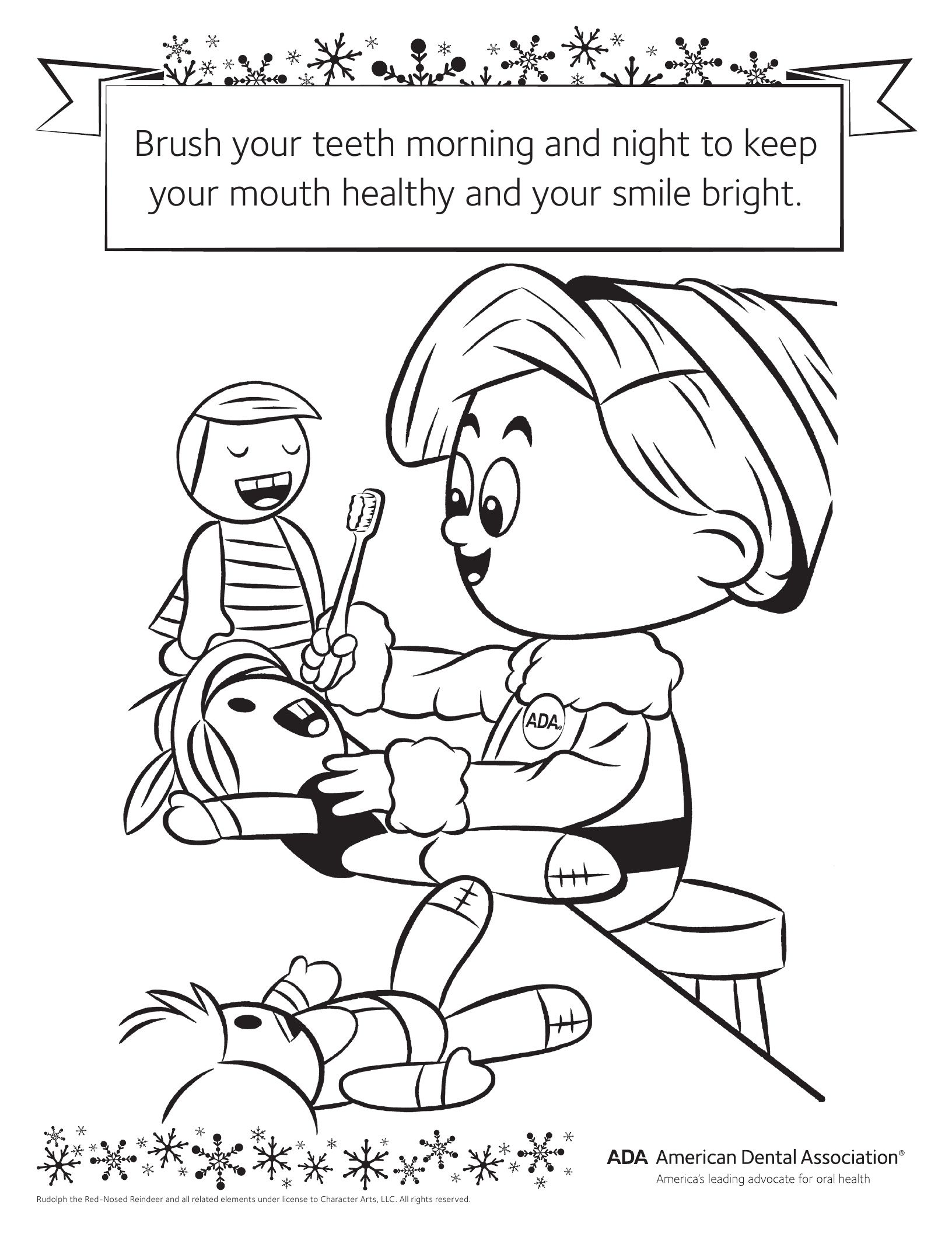 dental coloring pages for preschoolers - photo#21