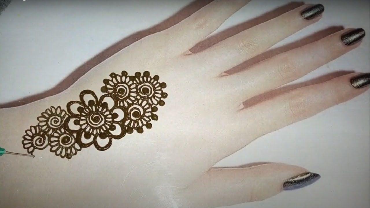 نقش حناء سهل وجميل Henna Easy And Beautiful Inscription Hand Tattoos Henna Hand Tattoo Hand Henna