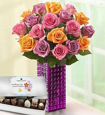 Sorbet Roses, 18 Stems- www.flowers.com #springflowers