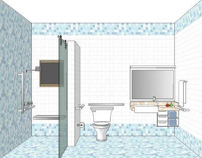 Casa Ideal Para O Idoso Banheiros Pequenos Modernos Lar De