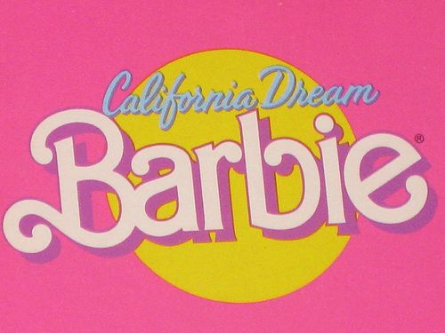 1987 California Dream Barbie Doll 4439 Typography I Love