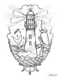 lighthouse sketch - Поиск в Google