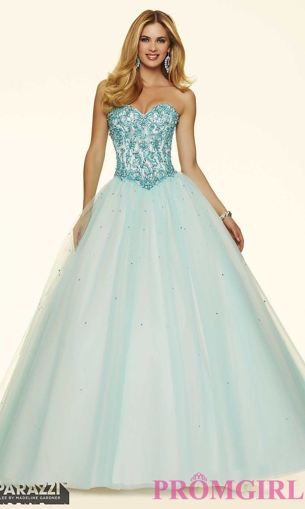 Ball gown style mori lee prom dress with corset back ml prom