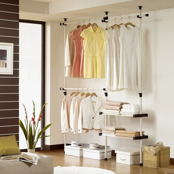 Bedroom Furniture Ideas Clothes Organizers Ideas Floor To Ceiling Clothes Rack Shelf Clothing Rack Clothing Rack Shelves