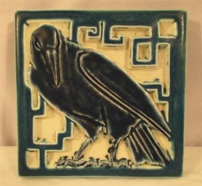 Vintage Rookwood Tile Trivet Raven Crow Bird Antique Art Pottery 1924 | eBay