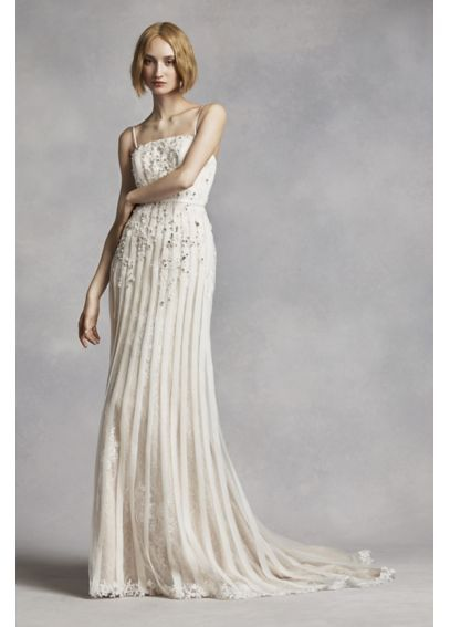 Trending White by Vera Wang Spaghetti Strap Wedding Dress VW