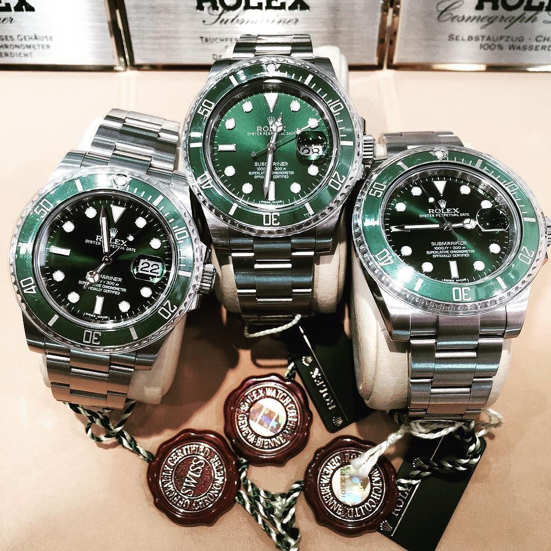 Rokex #lv #luxurywatch #submariner #sublv #subhulk #rolexlv #greensubmariner #subcollection by chronoberlin #rolex #submariner