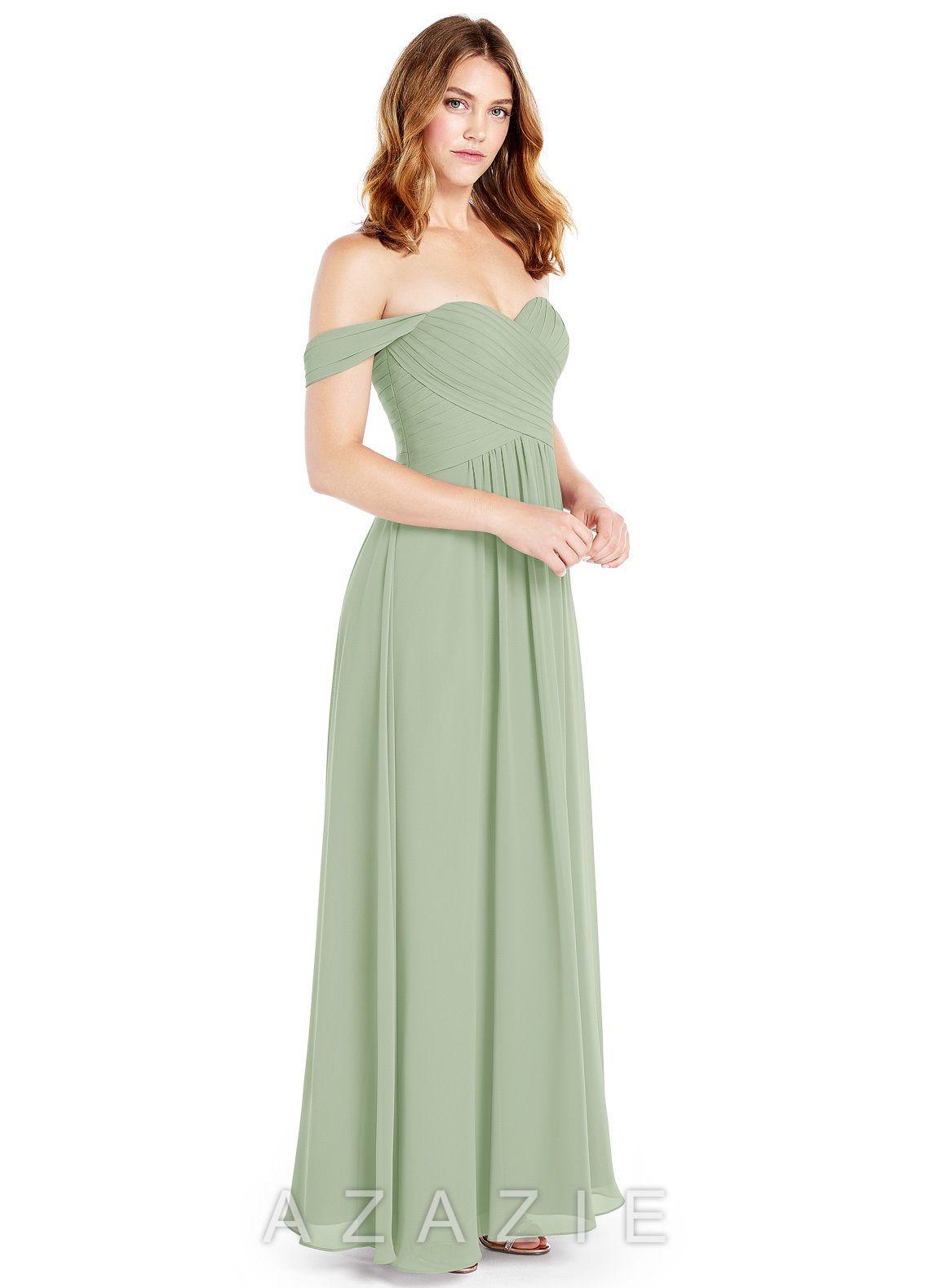 650c85b9807 Azazie Corin Bridesmaid Dress - Dusty Sage