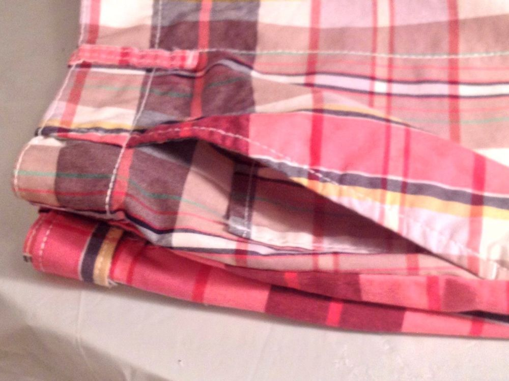 Dockers 16 Multi Colored Plaid Shorts 5 Pockets Hipster Cotton Blend Preppy  #Dockers #CasualShorts