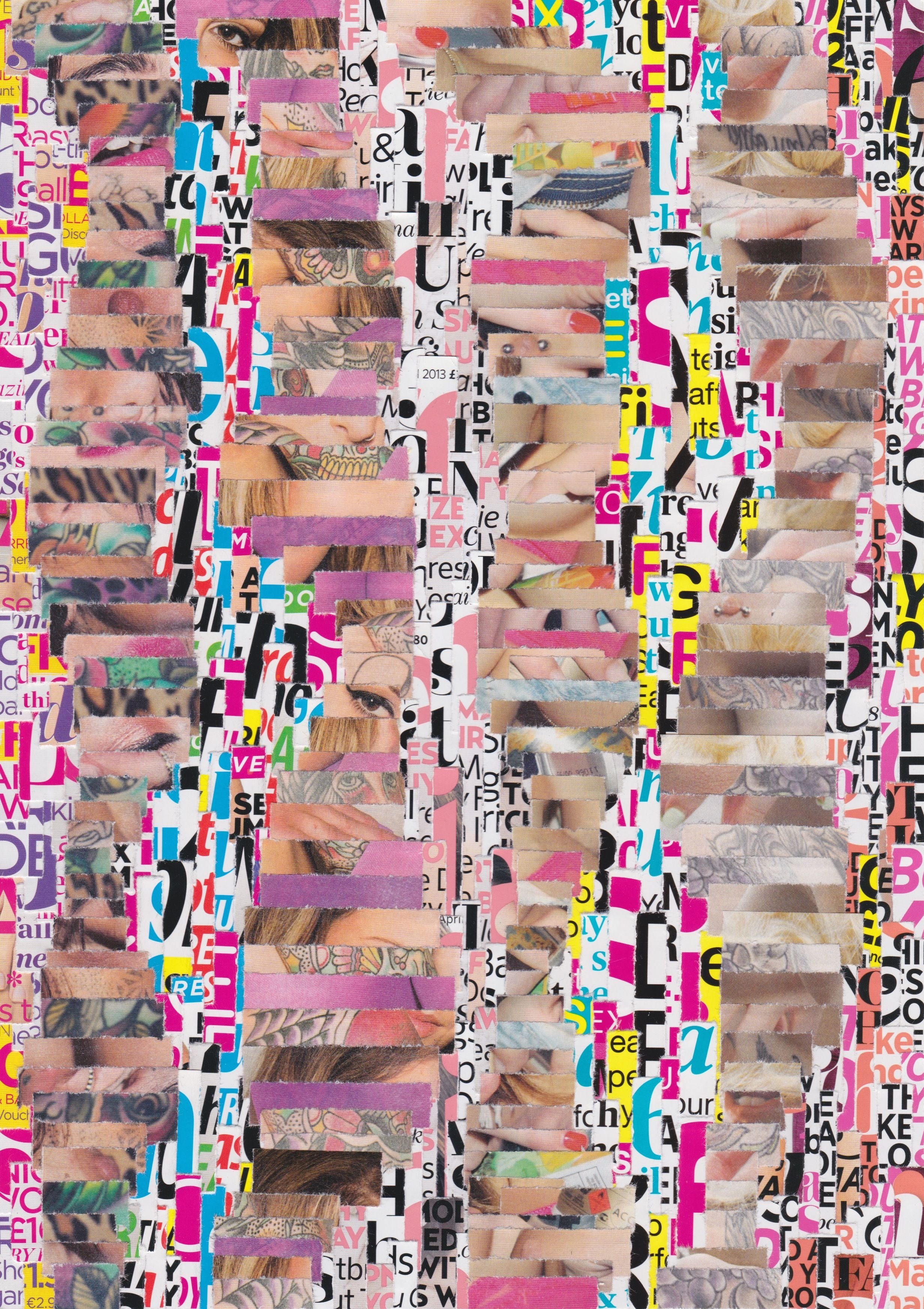 Carnival Mirror (1) A4 - Paper on Paper Completed March 24th 2014