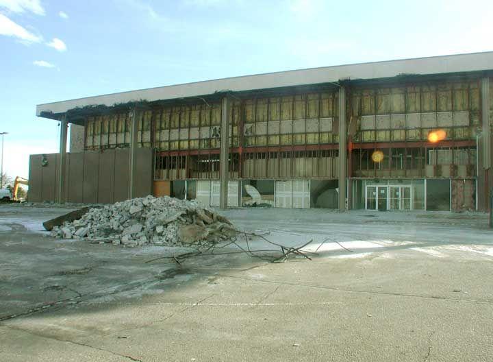Front of Dillards Demolished At the old Villa Italia Mall