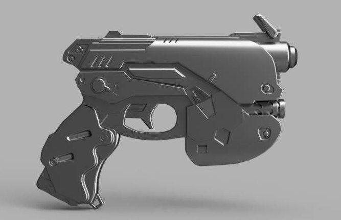 D va Gun STL Files Only Blueprint Ready to 3d Print 3d model