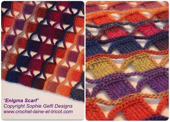 Punto mosaico o azulejos a crochet ideal para esclavinas - Patrones ...