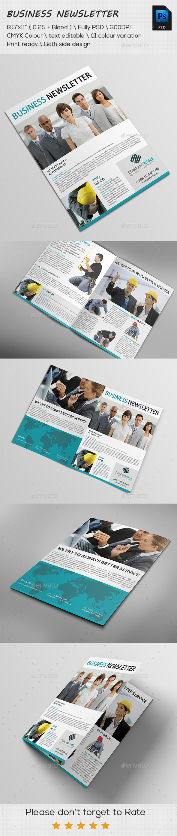 Corporate Business Newsletter Template  Newsletters Print Templates