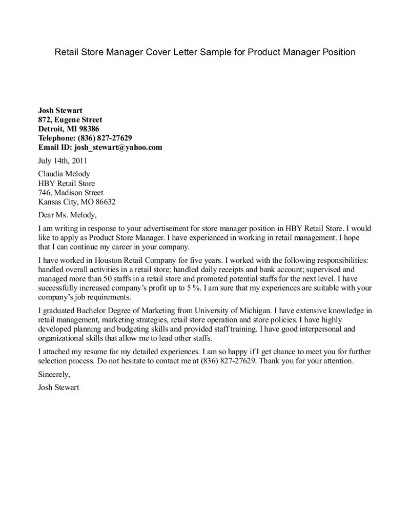 Download Outstanding Example Cover Letter Management Position  You Must Know