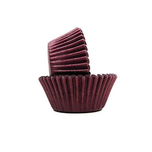 Standard. Regency Wraps Greaseproof Baking Cups Solid Brown 40-Count