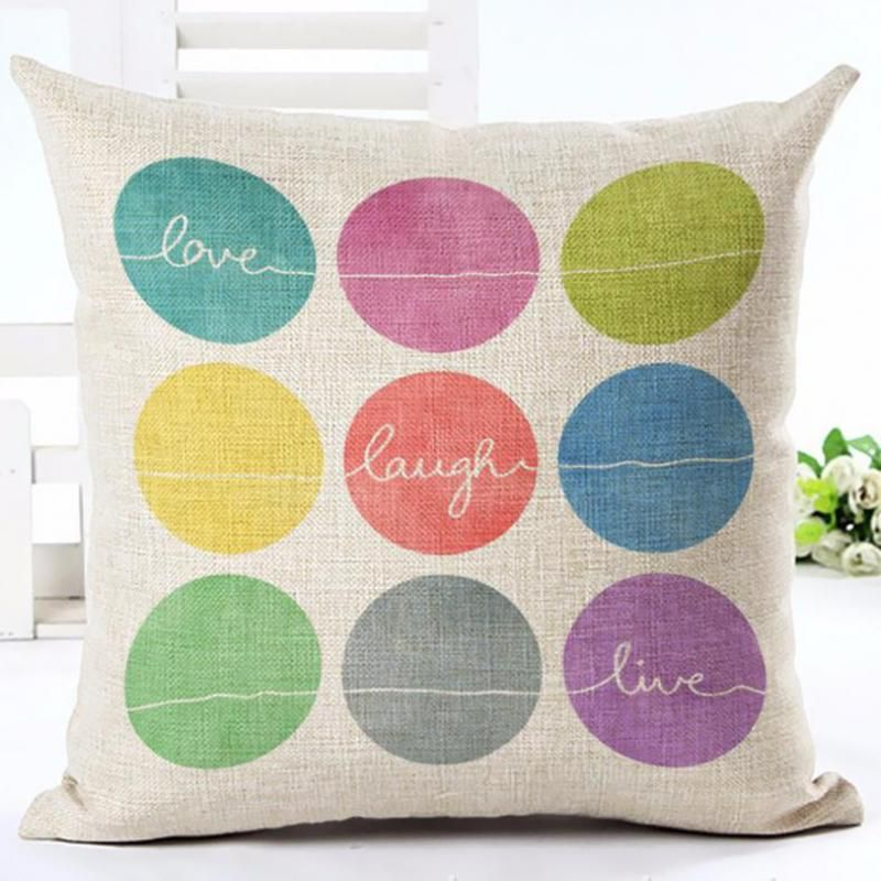 Wholesale Customized 2017 New Arrival Funny Alphabet Printed Cotton Linen Throw Pillows Office Ch Linen Pillow Cases Linen Throw Pillow Decorative Pillow Cases