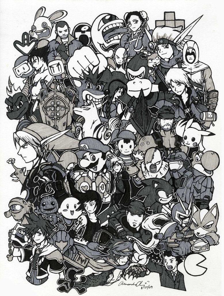 Gaming Collage | Video Game Art | Vido games, Video Games ...