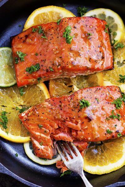Photo of Just Like Olive Garden's Citrus Glazed Salmon