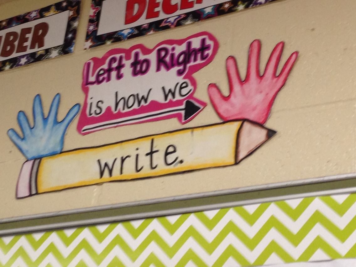 Left To Right Is How We Write