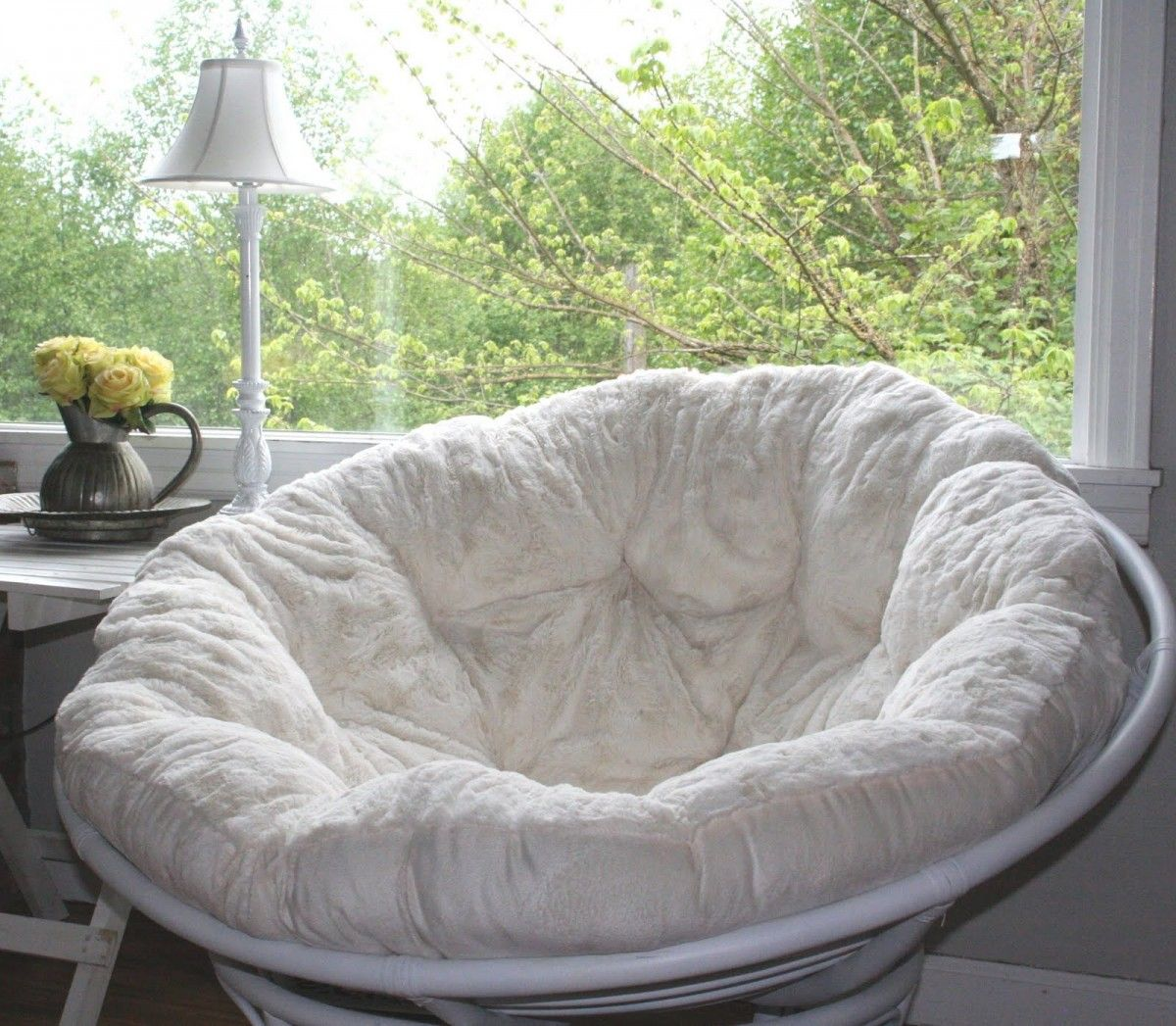 Small Papasan Chair Cushion Cool Hanging Chairs For Bedrooms I Think 39m Going To Paint My Frame Too