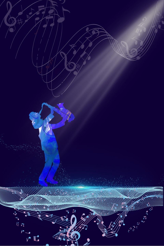 Plantilla De Fondo De Tema De Música Azul Tema Imágenes De Fondo Fondo