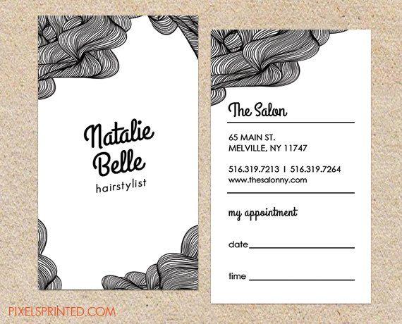 Carte pour une coiffeuse à NewYork BW business card