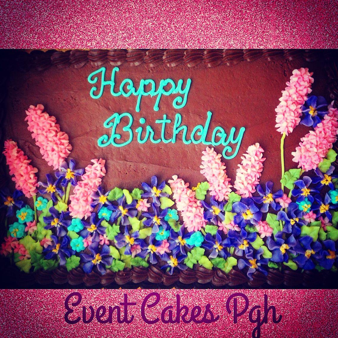flower garden in winter 9x13 happy birthday sheet cake event