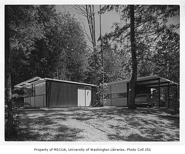 Paul Hayden Kirk    Bowman residence exterior, Kirkland, 1956