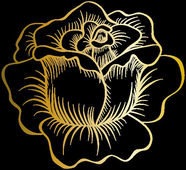 Golden Rose Png Clip Art Image Art Images Flower Icons Flower Pattern Drawing