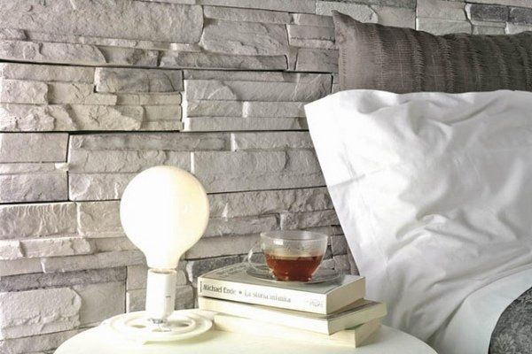modern bedroom decoration wall tiles natural stone tile ideas light gray