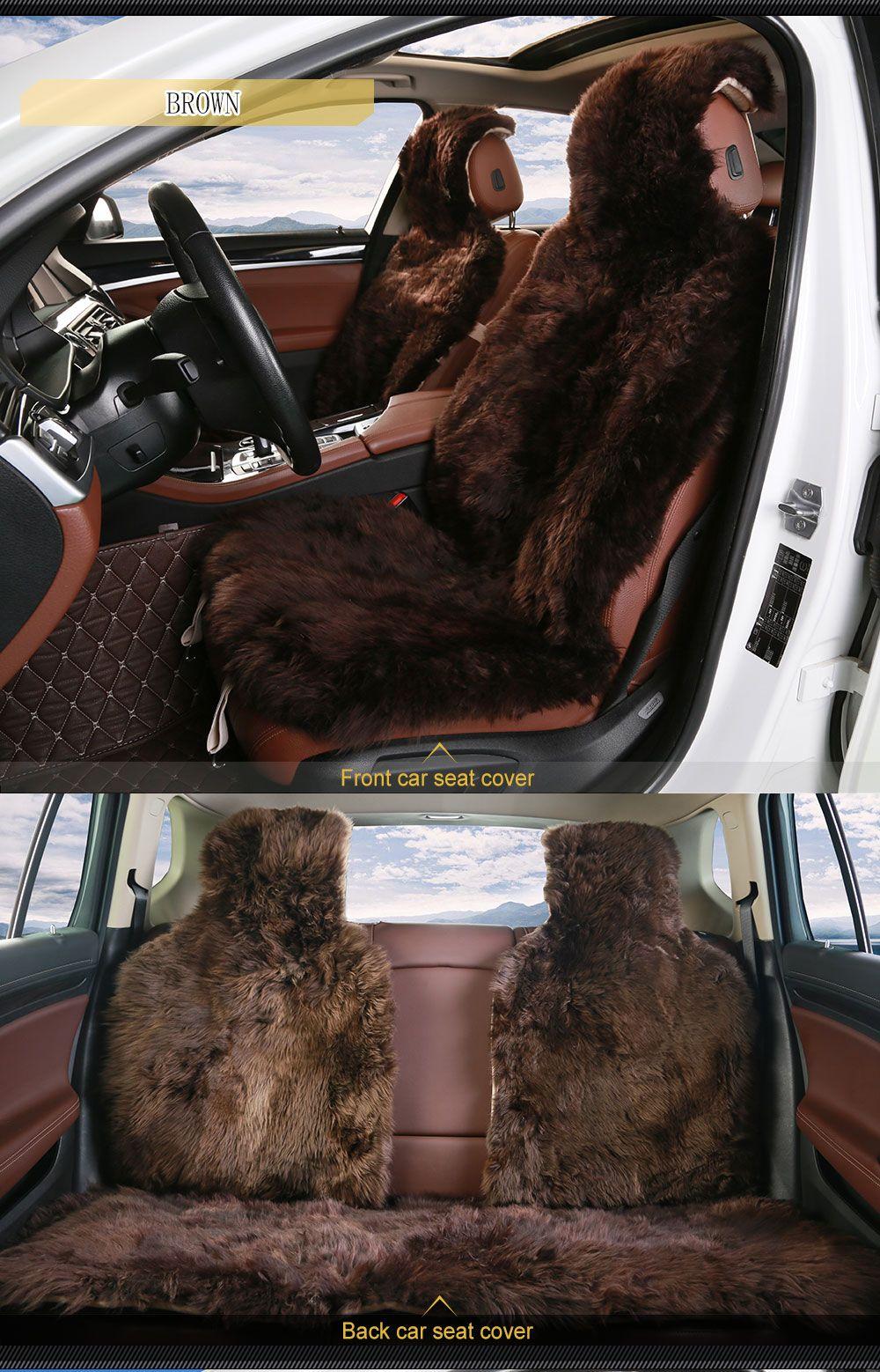 Decorative black sheepskin car seat covers sale carseat