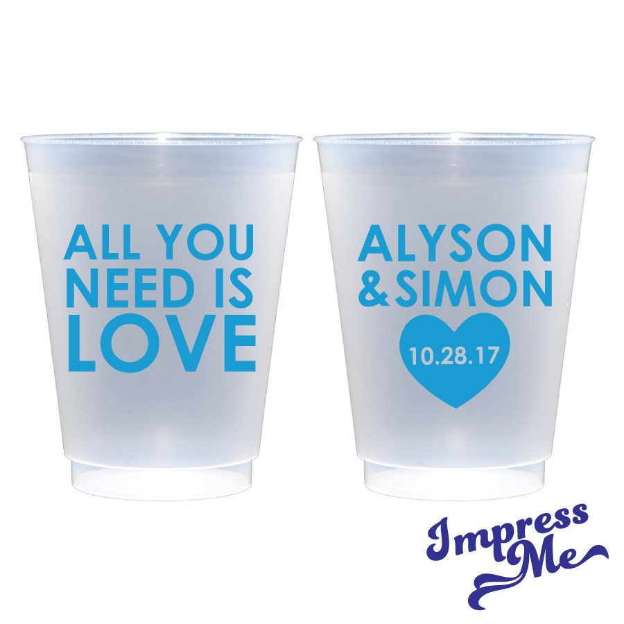 Personalized Frosted Cups Custom Cups Monogrammed Cups Wedding Cups ...