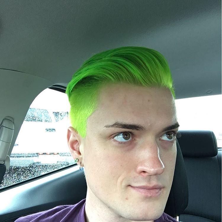 I Went Green Chartreuse Limegreen Sparkshaircolor Keylime