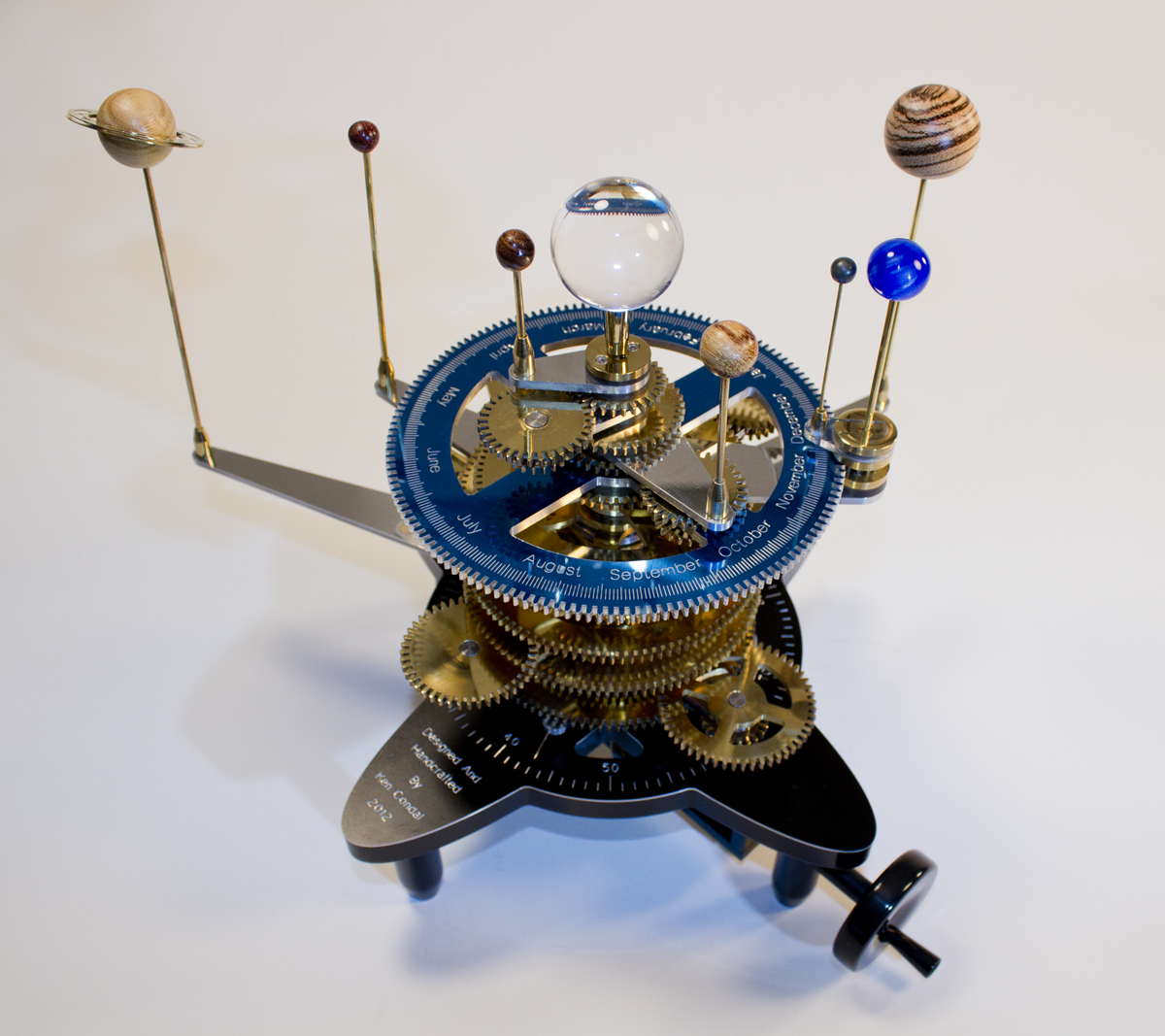 The Orrery The Regency Solar System In Miniature Via