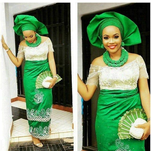 Green Aso Ebi Styles, Selectastyle, Nigerian Independence
